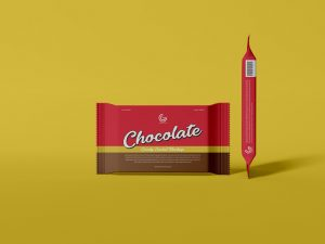 Free Chocolate Candy Sachet Mockup