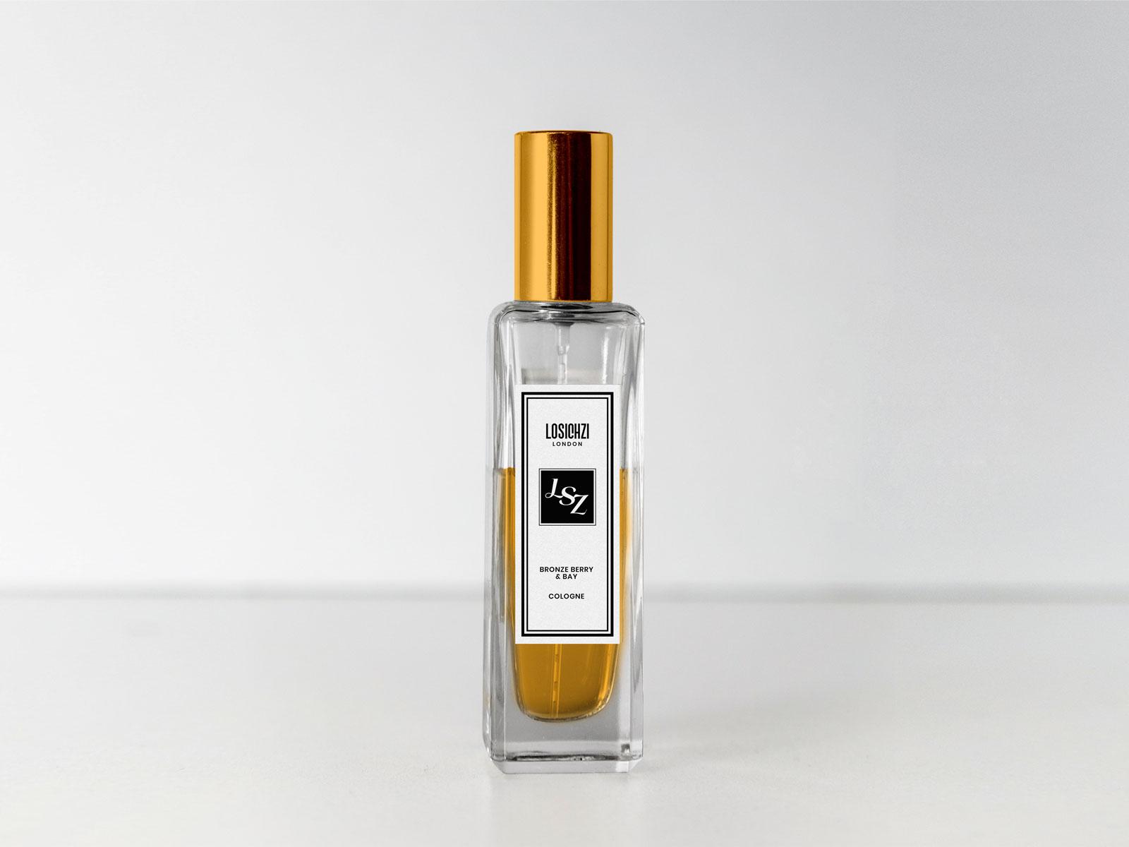 Free Perfume Scent Bottle Mockup