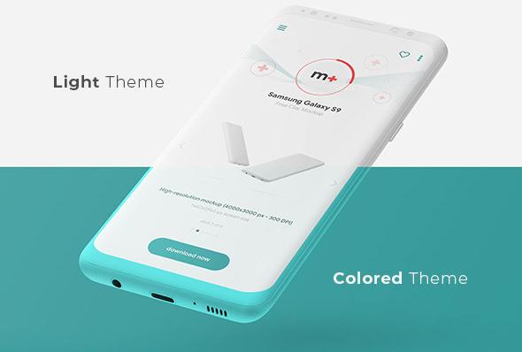 Free Samsung Galaxy S9 Clay Mockup