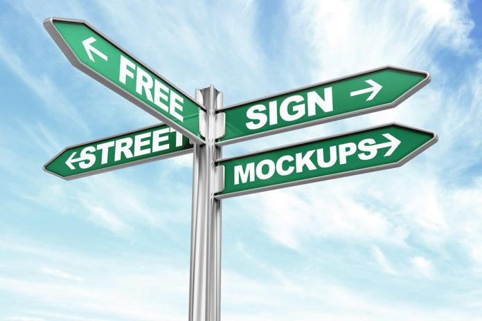 Free Street Sign Mockup Pack