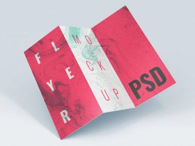 Free Three Fold Brochure Template Mockup