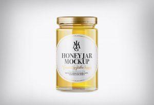 Honey Jar Bottle Free Mockup PSD Template