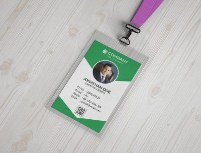 ID Card Design Free Mockup