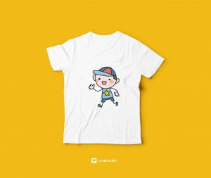 Kids T-Shirt Free PSD Mockup