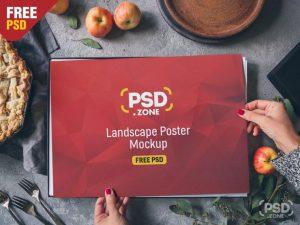 Landscape Poster Free PSD Mockup