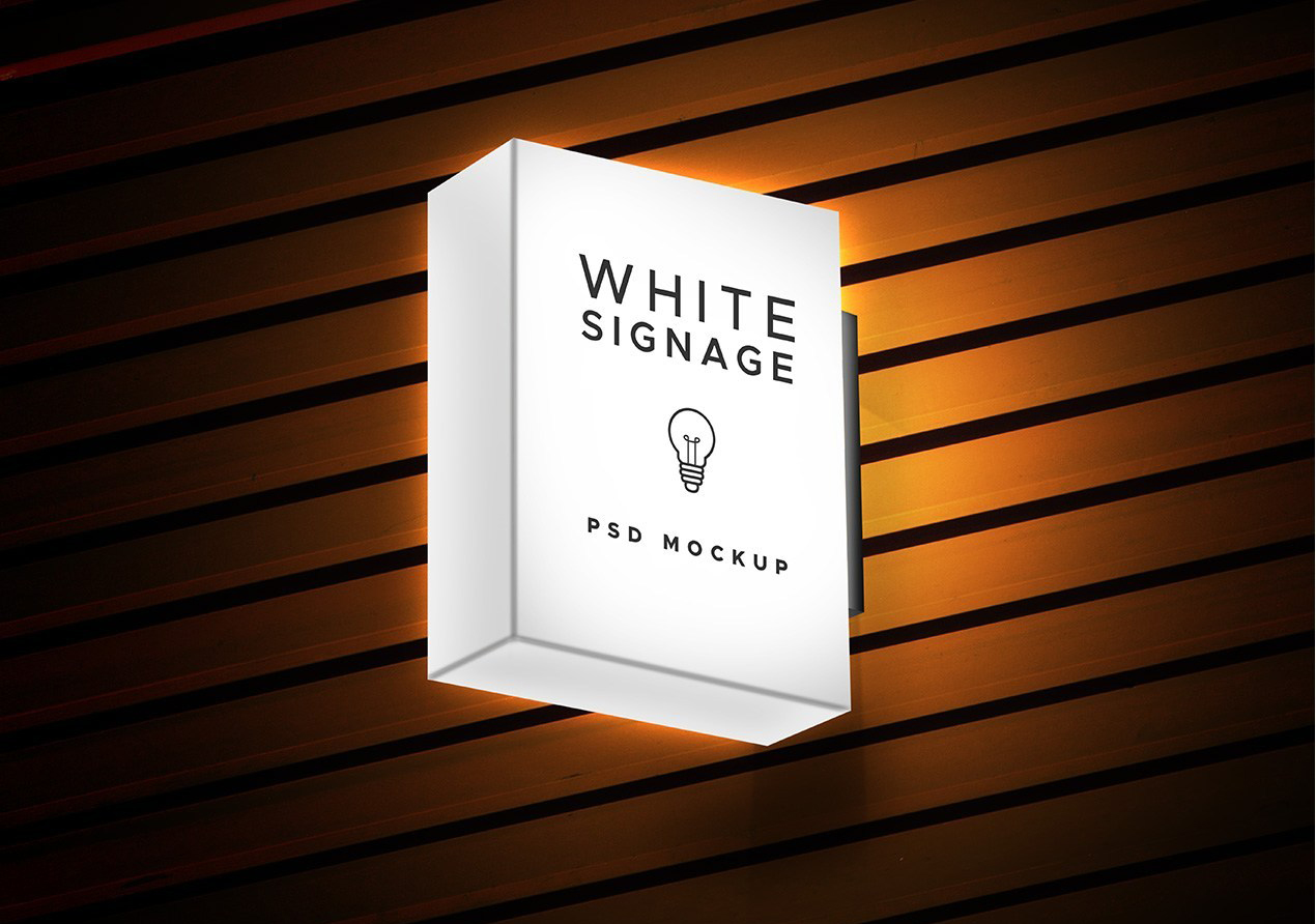 Light Box Display Signage Free Mockup
