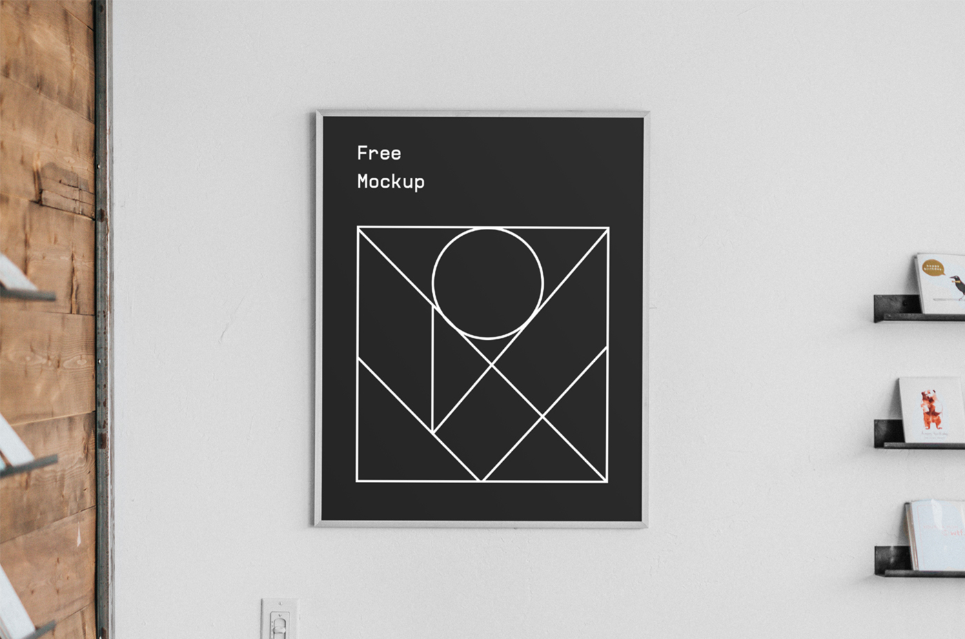 Poster Interior Free PSD Mockup