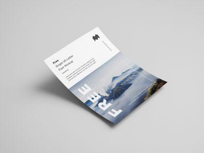 Free Single US Letter Flyer Mockup