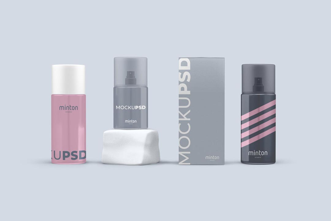 Spray Cosmetics Free Mockups