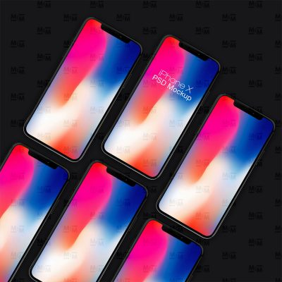 iPhone X Collection Free PSD Mockup