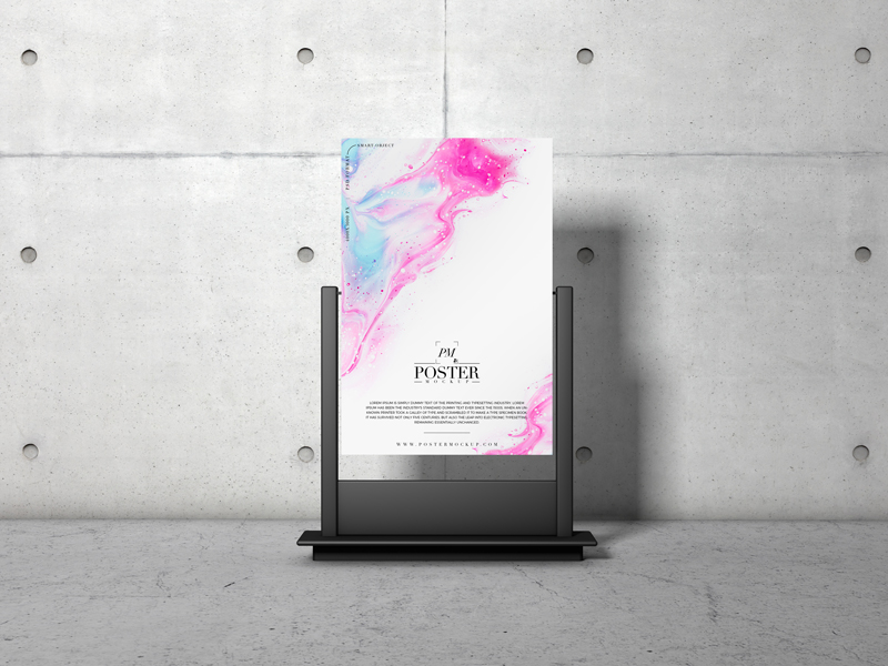 Advertising Stand PSD Poster Mockup