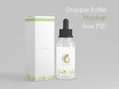 Dropper Bottle Free PSD Mockup