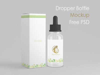 Dropper Bottle Free PSD Mockup