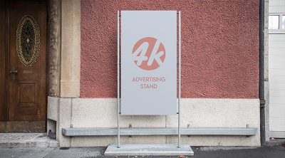 Free Advertising Stand PSD Mockup