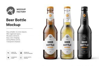 Free Beer Bottle Mock-ups