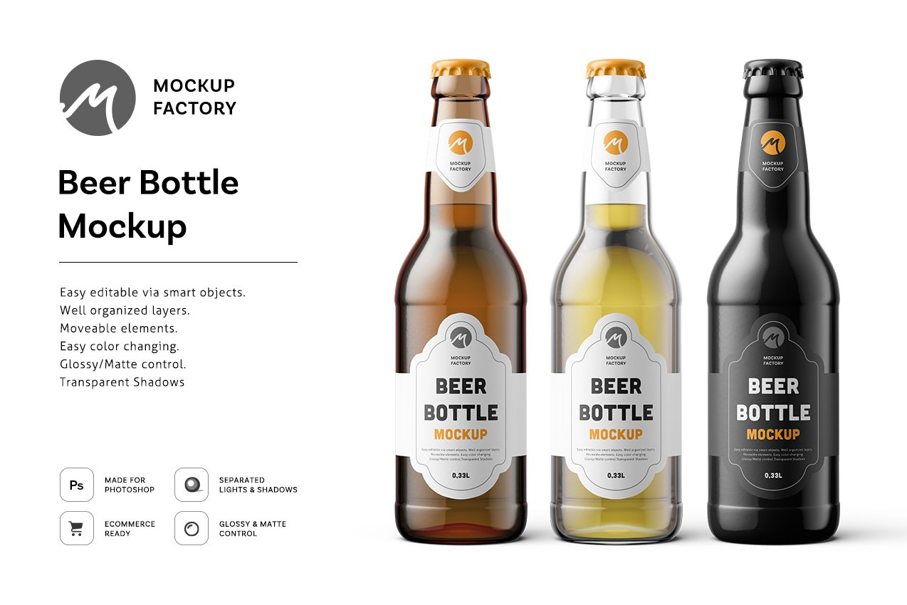 Free Beer Bottle Mock-ups