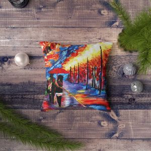 Free Colorful Square Pillow PSD Mock-up