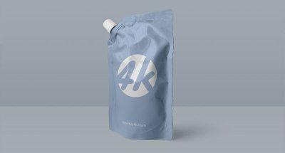 Free Doypack Foil Bag PSD Mockup