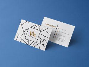 Free Front & Back Business Card Mock-ups