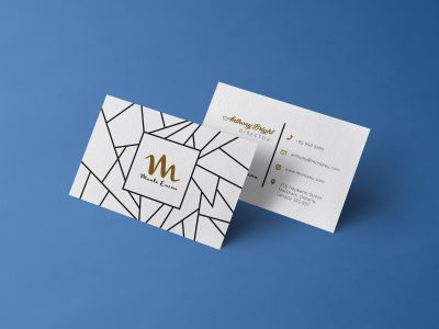Free Front & Back Business Card Mock-ups