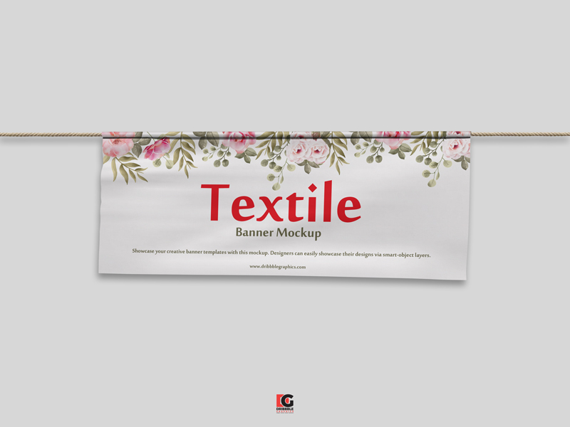Free PSD Textile Banner Mockup