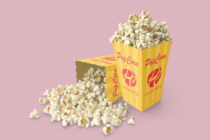 Free Popcorn Box Mockups