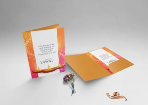 Free Standing Greeting Card Free PSD Mockup