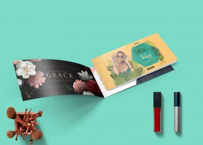 Free Wide Brochure PSD Mockup