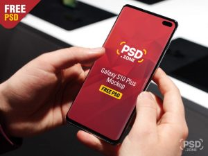 Galaxy S10 Plus Phone Free PSD Mockup