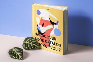 Hardcover Book Catalog Free Mockup