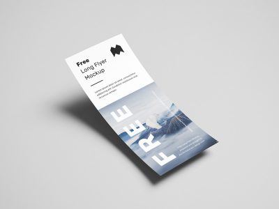 Long DL Flyer Free Mockup