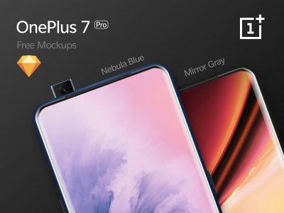 OnePlus 7 Pro Free PSD Mockups