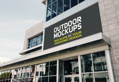 Outdoor Panel Free PSD Mockup