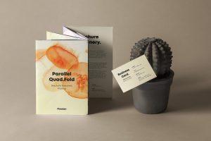 Quad Fold Psd Brochure Free Mockup