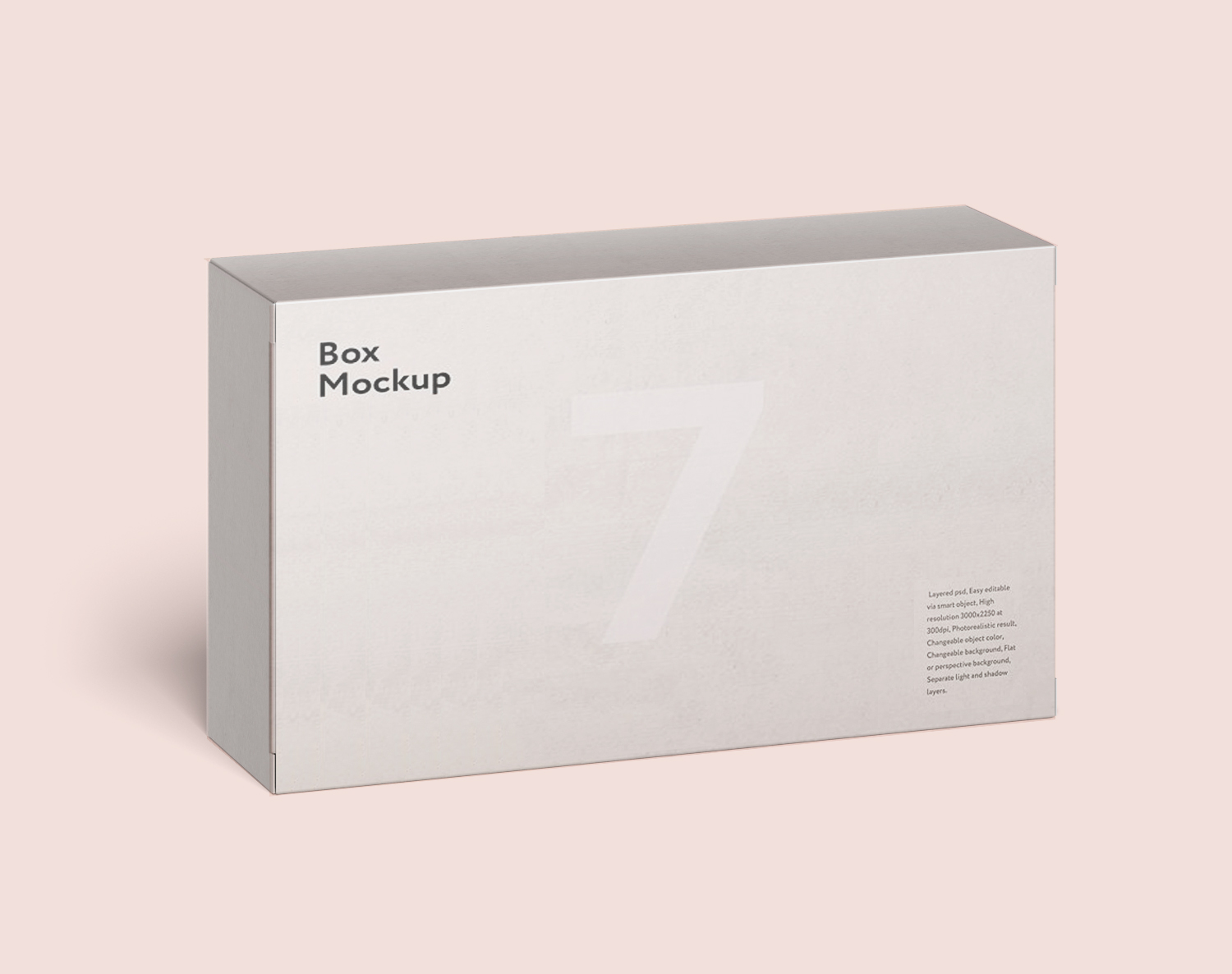 Rectangle Box Packaging Free Mockup