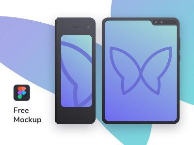 Samsung Galaxy Fold Free Mockup