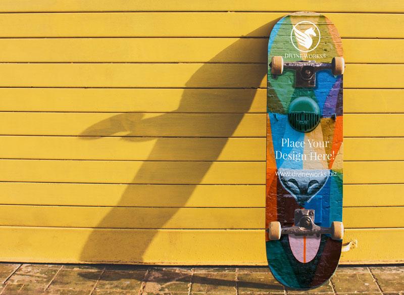 Skateboard Free PSD Mockup