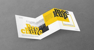 Square Trifold Brochure Free PSD Mockup
