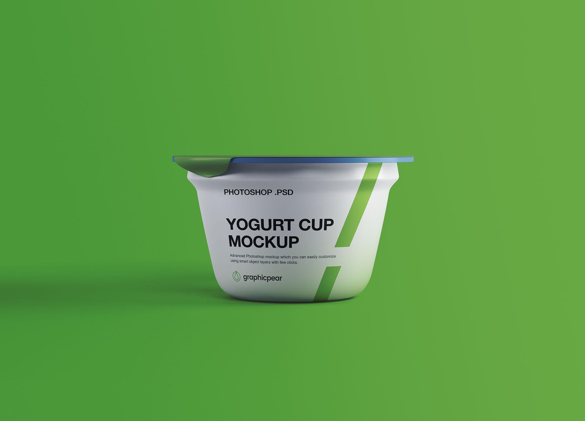 Yogurt Plastic Cup Free Mockup