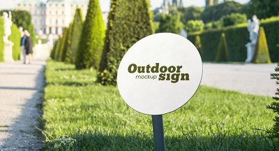 2 Free Outdoor Sign Free PSD Mockups