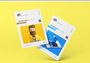 A4 Poster Free PSD Mock-ups