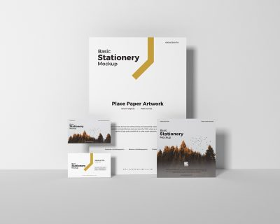 Basic Stationery Free PSD Mockup Design