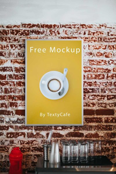 Cafe Menu Board Free Mockup