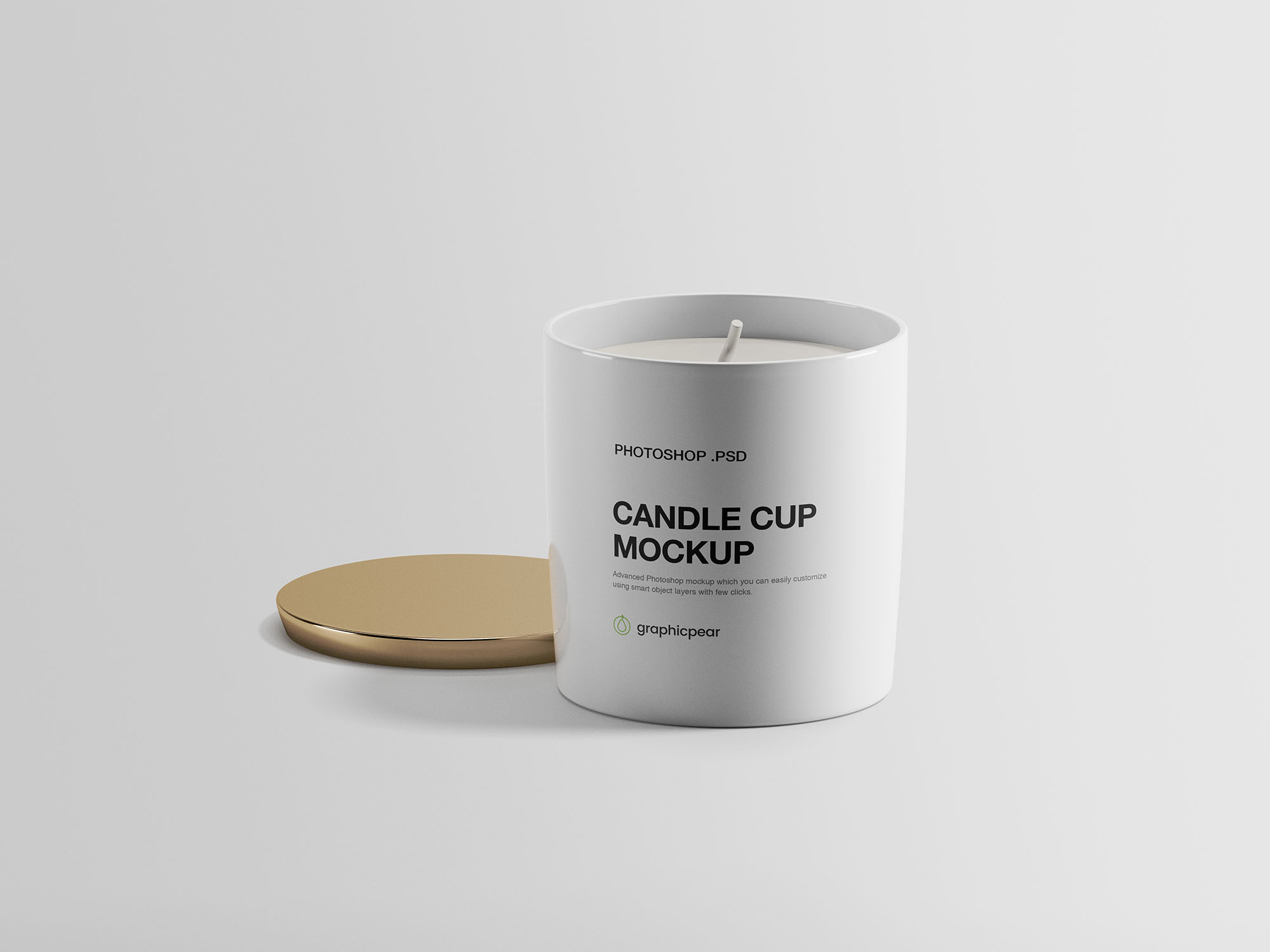 Candle Cup Free PSD Mockup