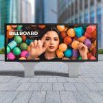 City Advertisement Billboard Free PSD Mockup