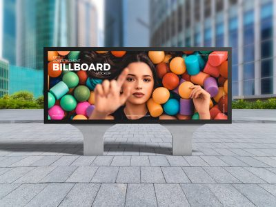 City Advertisement Billboard Free PSD Mockup