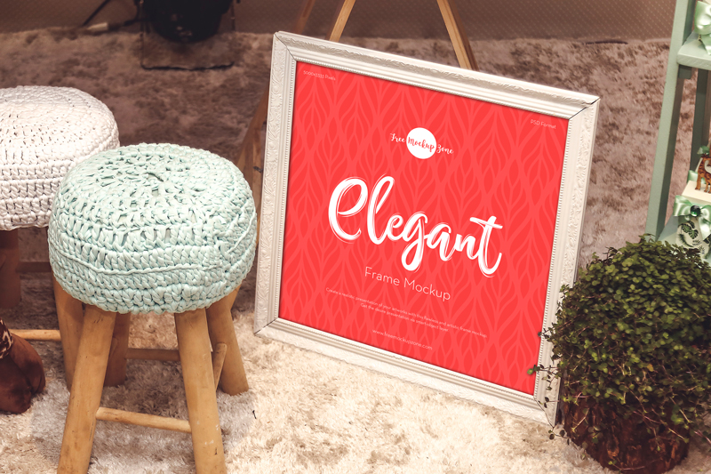 Elegant Frame Free PSD Mockup Design