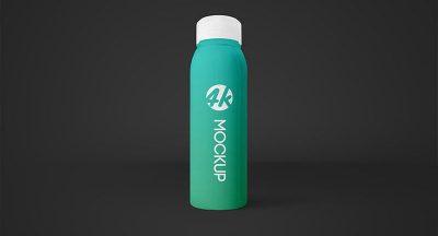 Free Cosmetic Bottle Branding Mockup