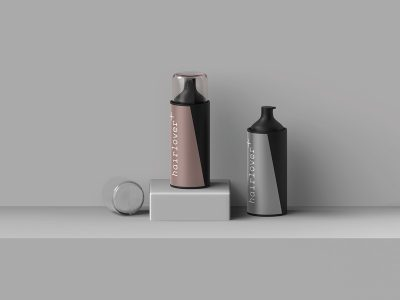 Hairlover Bottle Free PSD Mockup