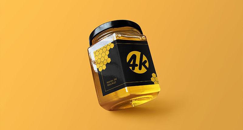 Honey Jar Free PSD Mockup